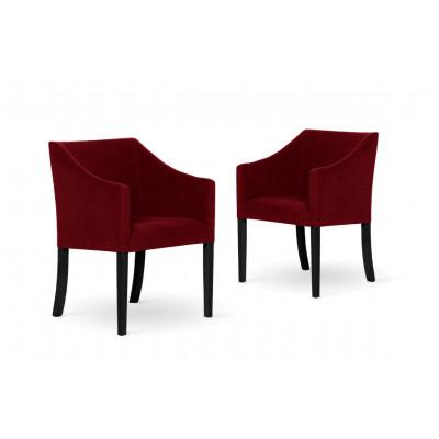 2er-Set Esszimmerstühlen Illusion | Rot