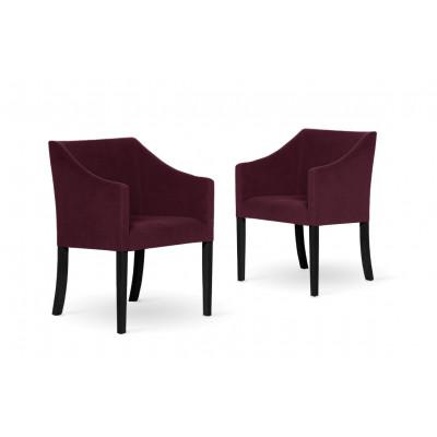2er-Set Esszimmerstühlen Illusion | Bordeaux