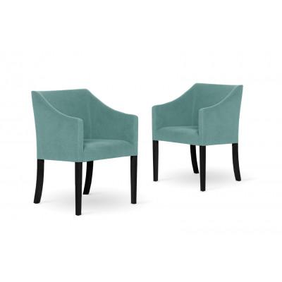 2er-Set Esszimmerstühlen Illusion | Hellblau