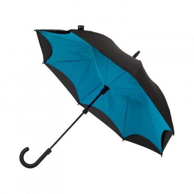 Turquoise & Black Umbrella    Curved