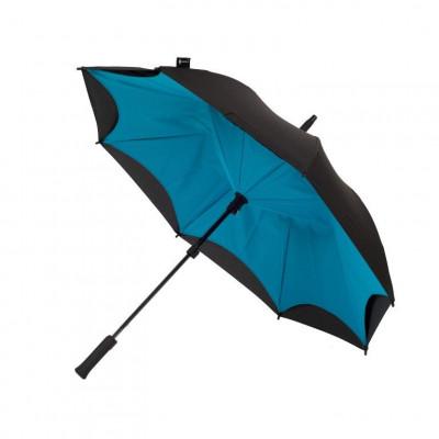Turquoise & Black Umbrella    Straight