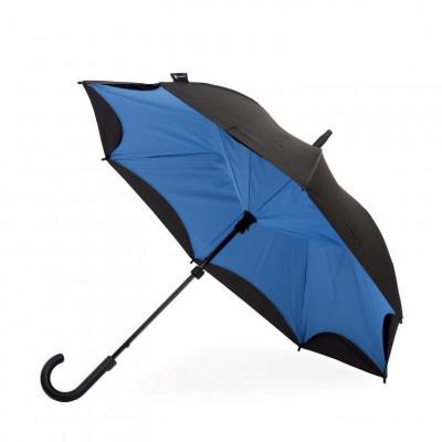 Cornflower Blue & Black Umbrella    Curved