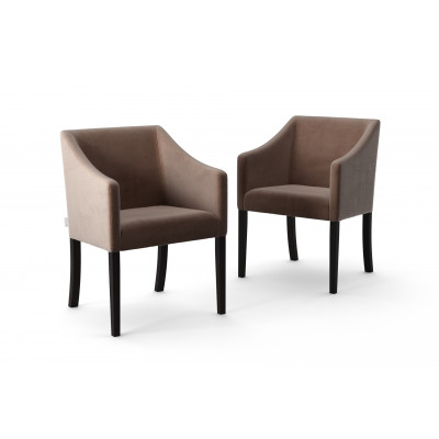Set of 2 Dining Chairs Illusion Velvet | Taupe