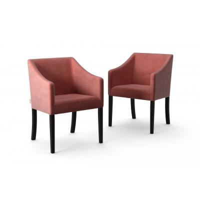 2-er Set Esszimmerstühle Illusion Velvet   Puderrosa