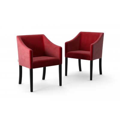 Set of 2 Dining Chairs Illusion Velvet | Red