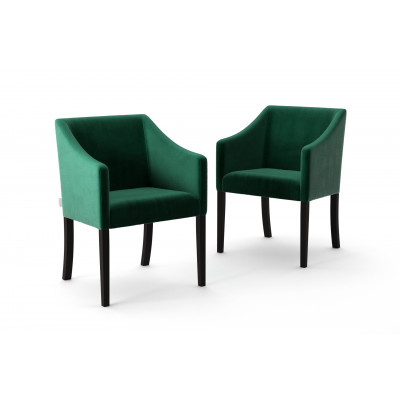 Set of 2 Dining Chairs Illusion Velvet | Green