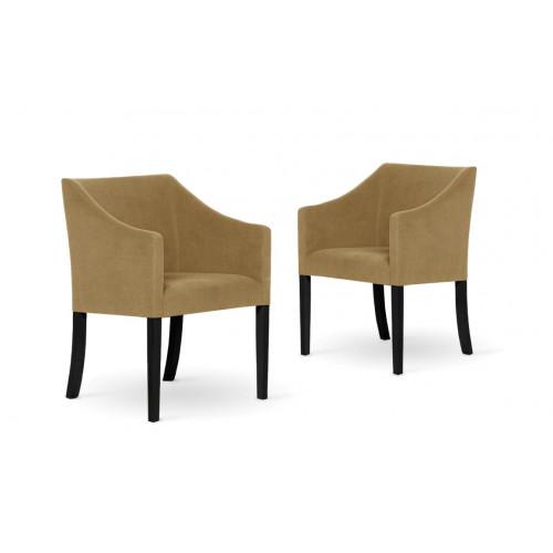 2er-Set Esszimmerstühlen Illusion | Karamell
