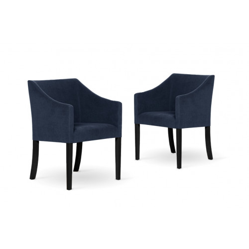 Set de 2 Chaise à Manger Illusion | Bleu Marine