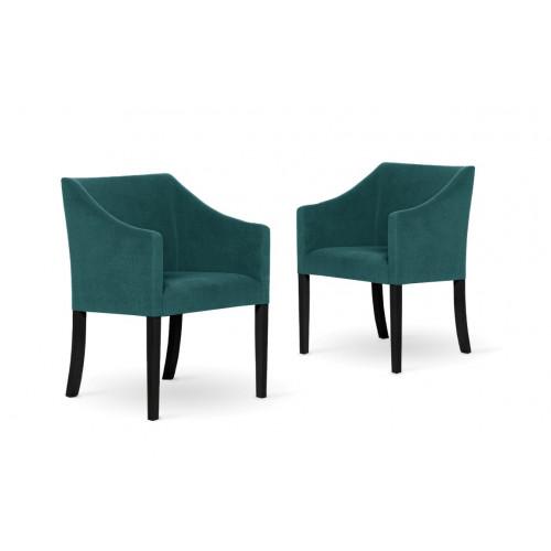 2er-Set Esszimmerstühlen Illusion   Türkis