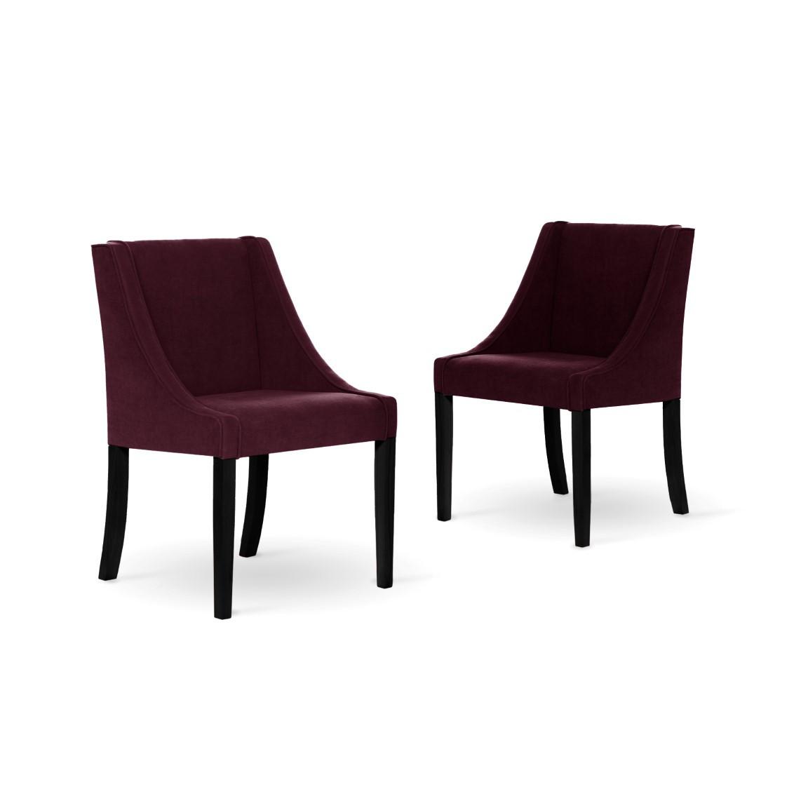 Set de 2 Chaise à Manger Creativity   Bordeaux