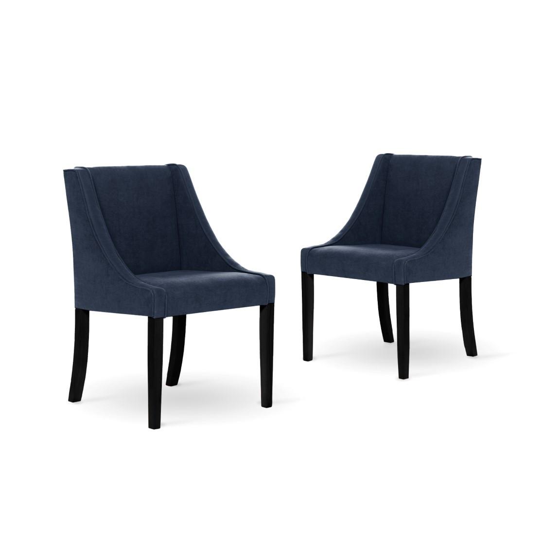 2er-Set Esszimmerstühlen Creativity | Marineblau