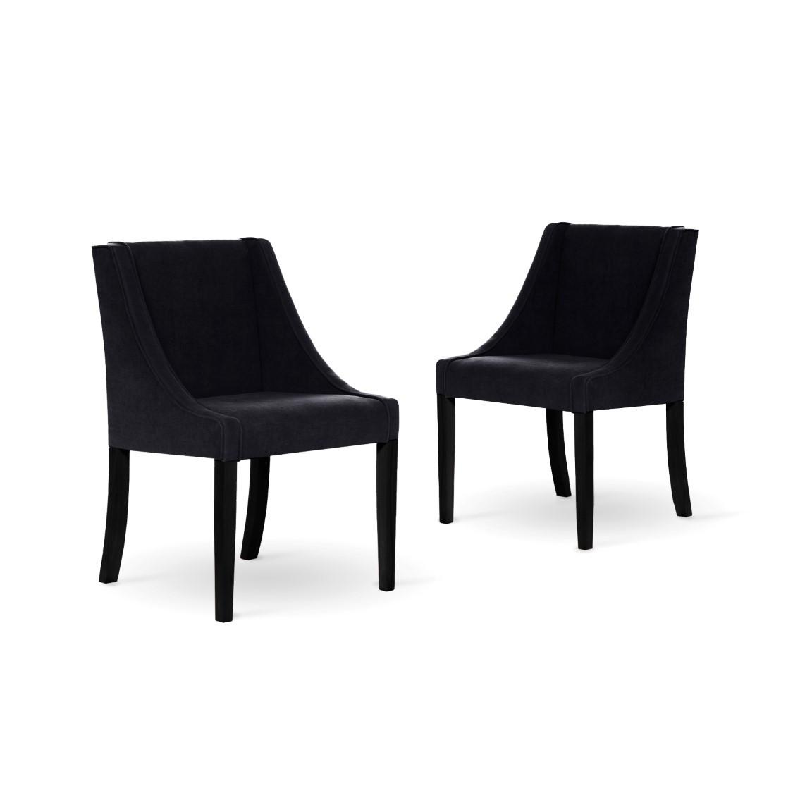 Set de 2 Chaise à Manger Creativity | Noir