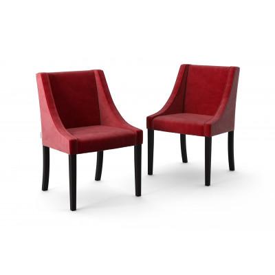 2-er Set Esszimmerstühle Creativity Velvet | Rot