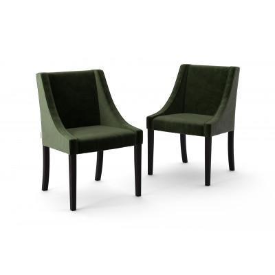 2-er Set Esszimmerstühle Creativity Velvet | Dunkelgrün