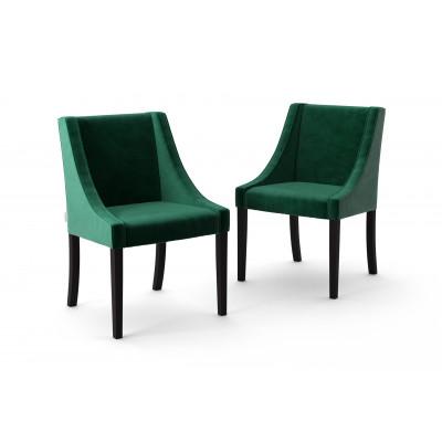 2-er Set Esszimmerstühle Creativity Velvet | Grün