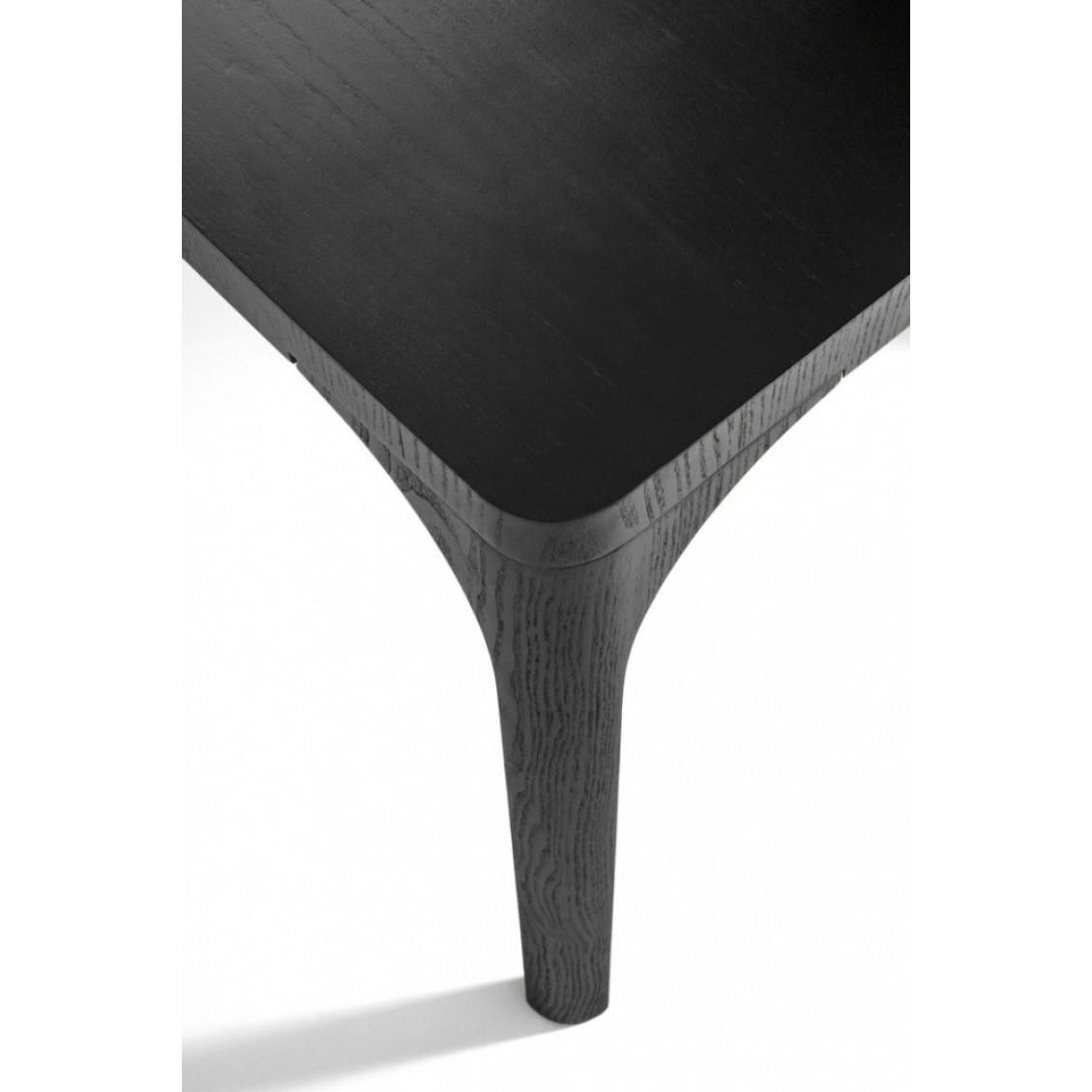 Esstisch aus Barewood   Schwarzer Lack mit Holznerven