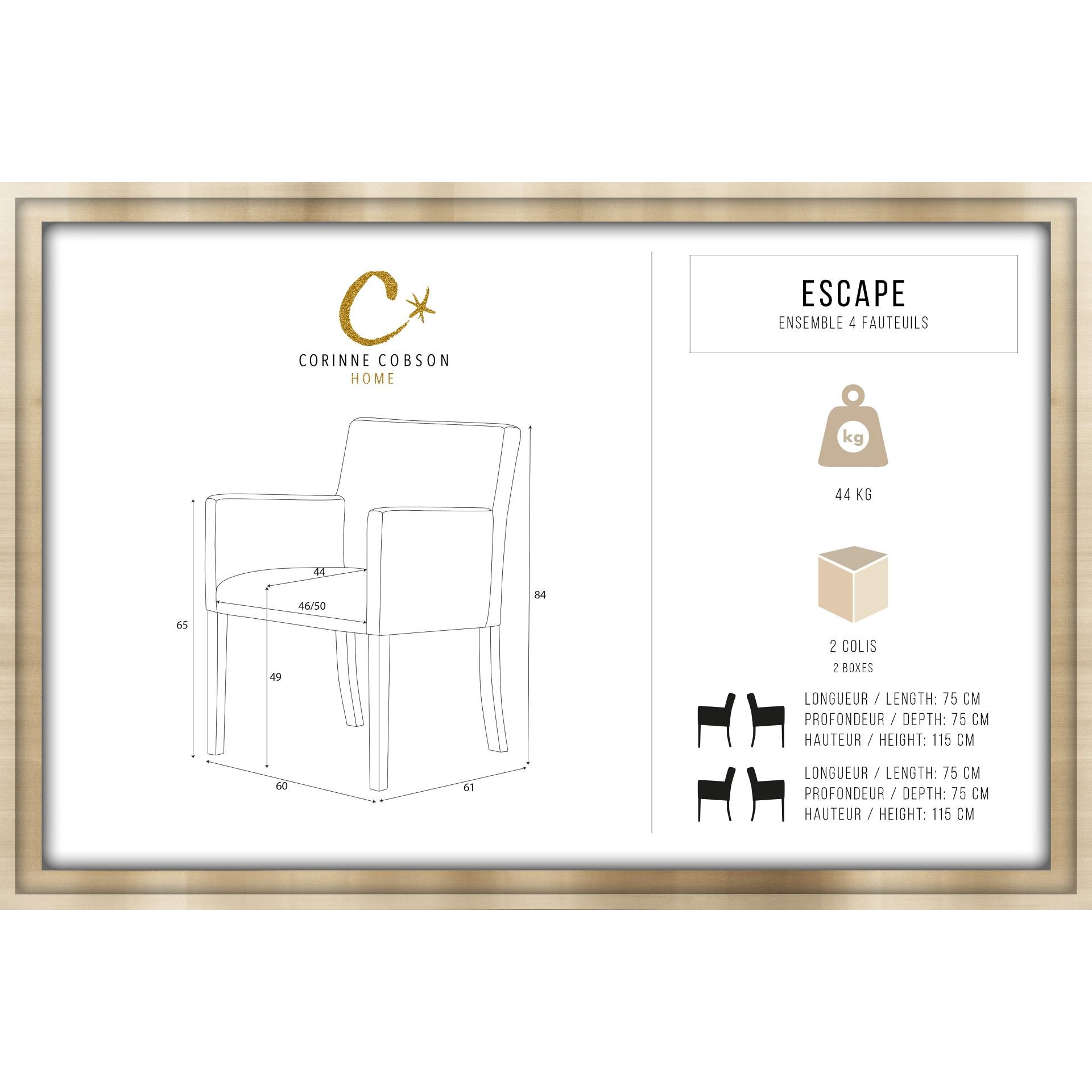 Chaise Escape Set de 4 | Vert