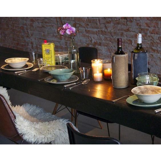 Durable Winecooler Of Wool | Circle Print