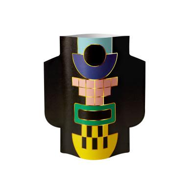 Papier-Vase Templo | Schwarz