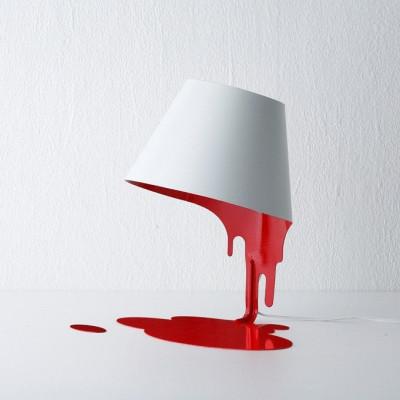 Liquid Table Lampenschirm Rot