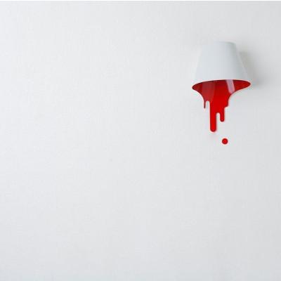 Liquid Bracket Lampenschirm Rot