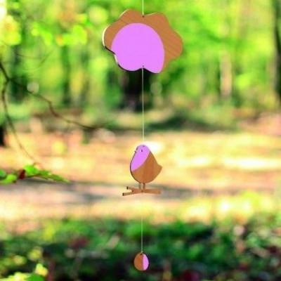 Mobile Der Vogel und die Wolke | Rosa