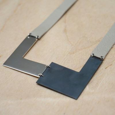 Necklace | Silver & Black