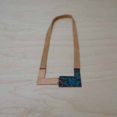 Necklace | Copper & Green-blue