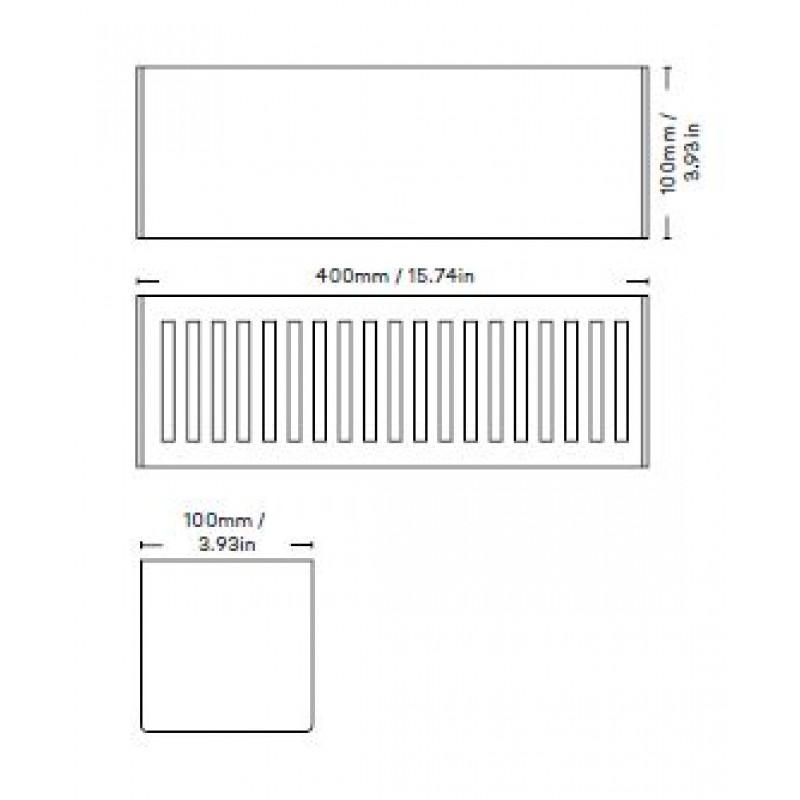 Ablage Badewannenablage 40 cm   Weiß