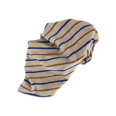 Handtuch Raita | Karamell + Optik Blau Small