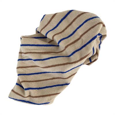 Handtuch Raita | Karamell + Optik Blau Medium