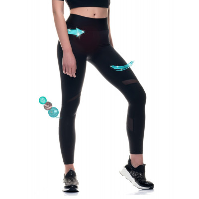 Sport Legging Transparent | Schwarz
