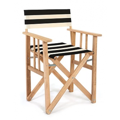 Director Chair Striped | Black / Natural