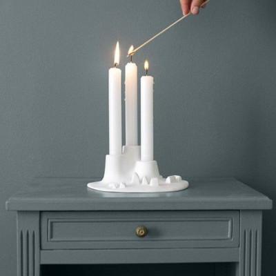 L'Ignée Candleholder   White