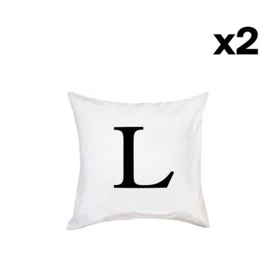 2er-Set Kissenbezügen | L