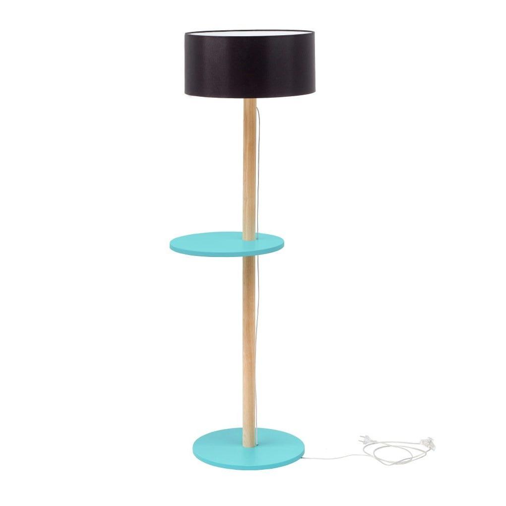 UFO Lamp | Black Shade + Dark Turquoise Shelves
