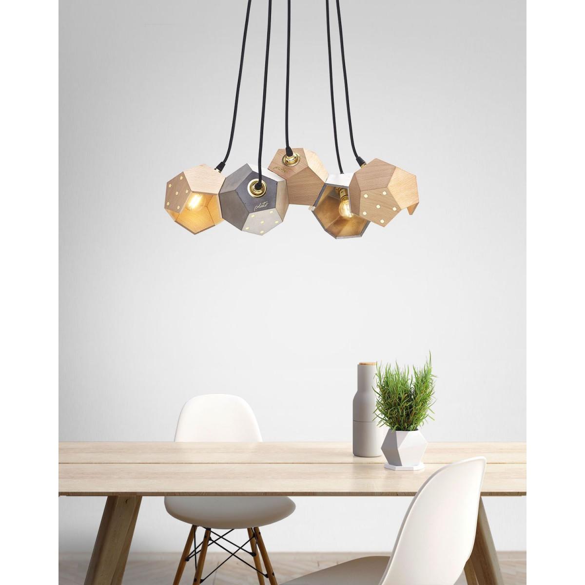 Ceiling Lamp Basic Twelve Trio   Concrete