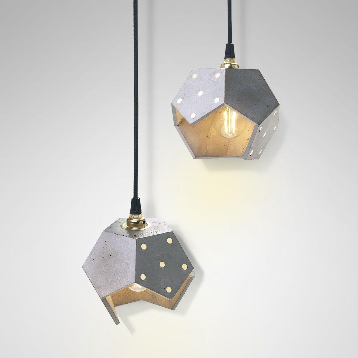 Ceiling Lamp Basic Twelve Duo   Concrete