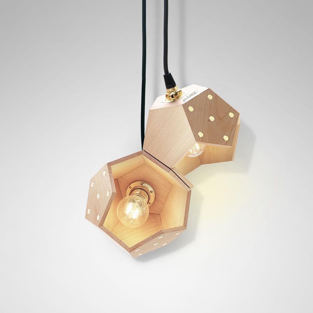 Ceiling Lamp Basic Twelve Duo | Wood