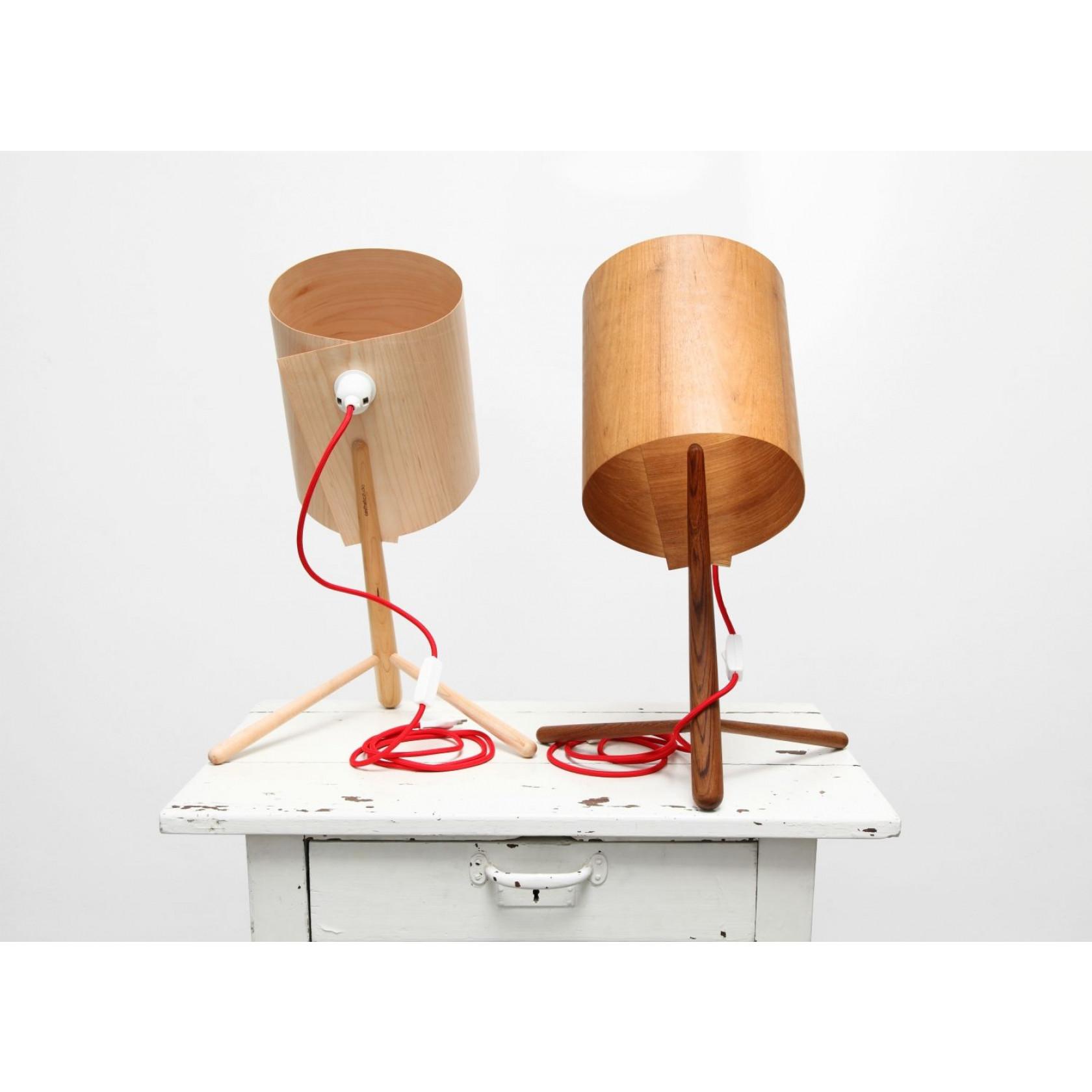 Houten lamp in Teak