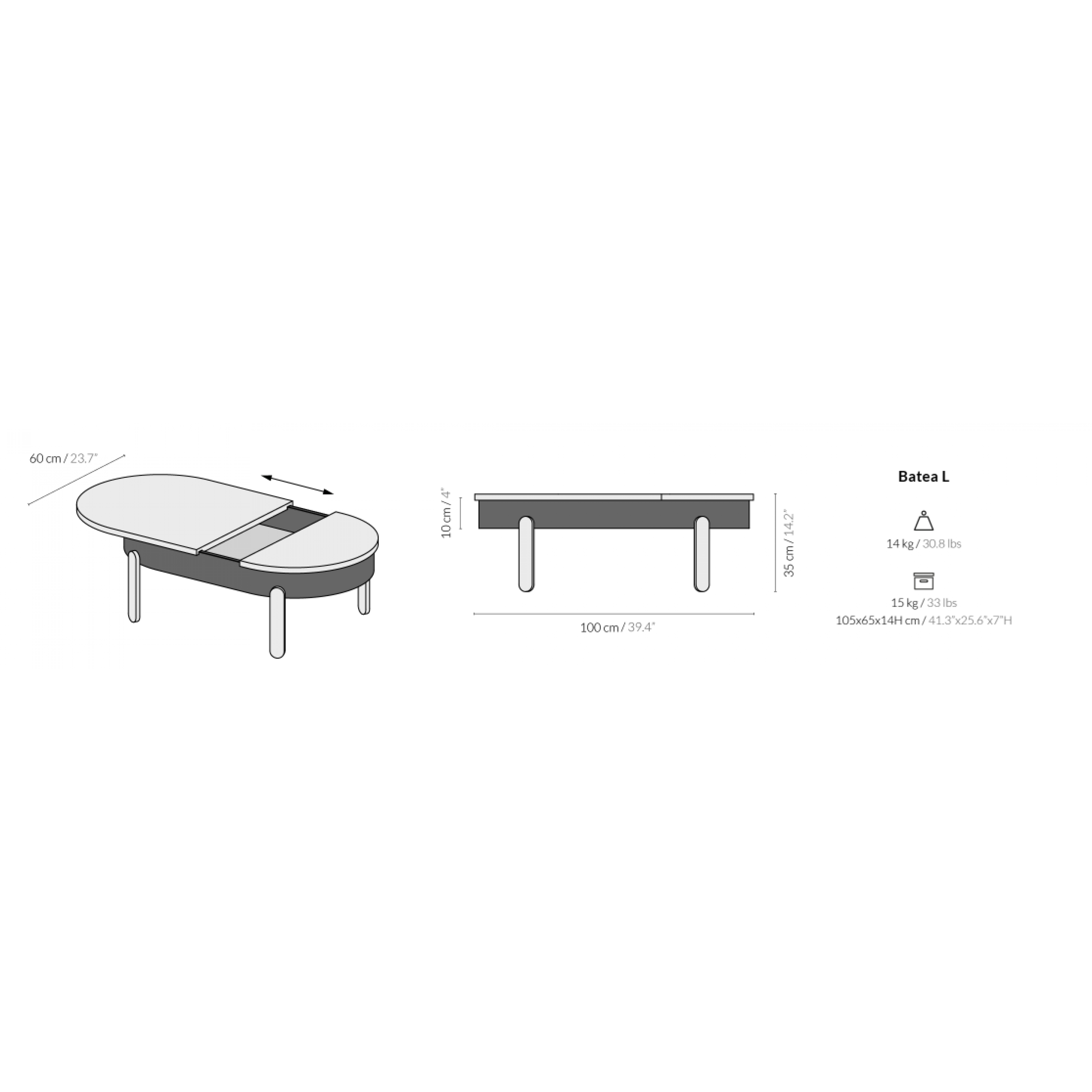 Batea Large  | Coffee Table With Storage