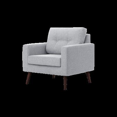 1-Sitzer-Sofa Biber   Hellgrau