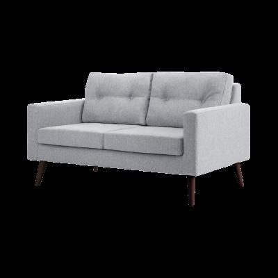 2-Sitzer-Sofa Biber   Hellgrau