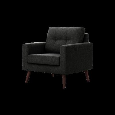 1-Sitzer-Sofa Biber   Schwarz