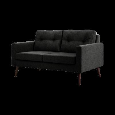 2-Sitzer-Sofa Biber   Schwarz