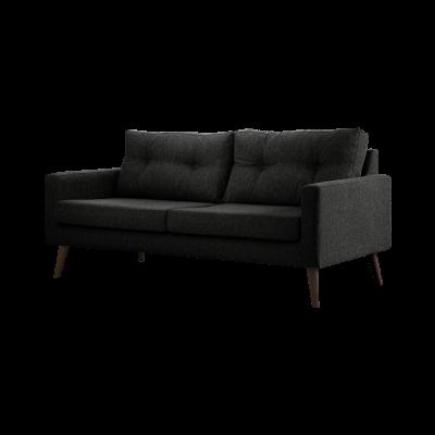 3-Sitzer-Sofa Biber   Schwarz