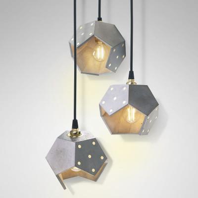 Ceiling Lamp Basic Twelve Trio | Concrete