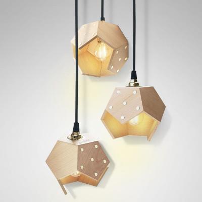 Ceiling Lamp Basic Twelve Trio | Wood