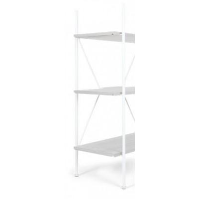 Lagerregalsystem Niedrige Leiter | Weiß