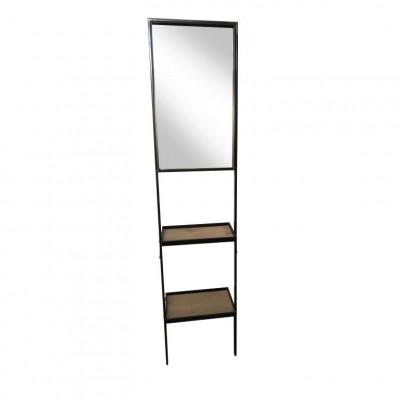 Spiegelregalleiter | Antik Schwarz